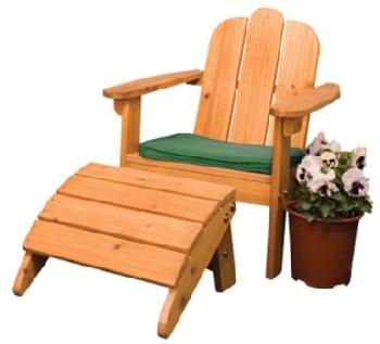 Adirondack Chair U0026 Ottoman