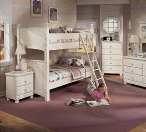 Cottage retreat twin bunk bed furniture Cottage retreat collection bedroom furniture