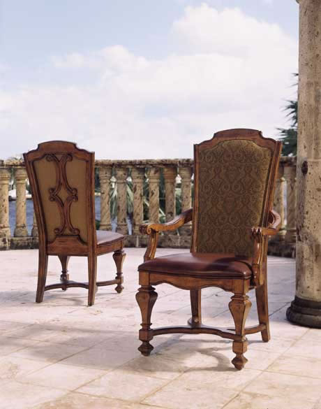 Santa Barbara Wood Upholstered Side Chair Furniture
