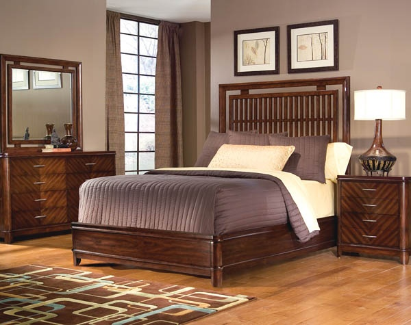 Pacific Rim Panel Bed Furniture
