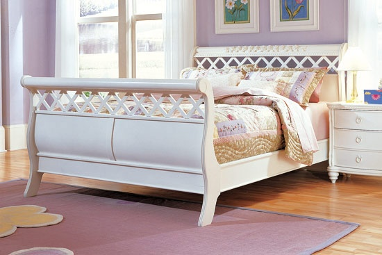 Rose Garden Sleigh Bed Furniture Times Com