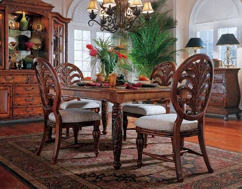 West Indies 5piece Rectangular Dining Set Furniture